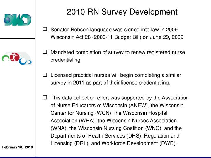 2010 RN Survey Development