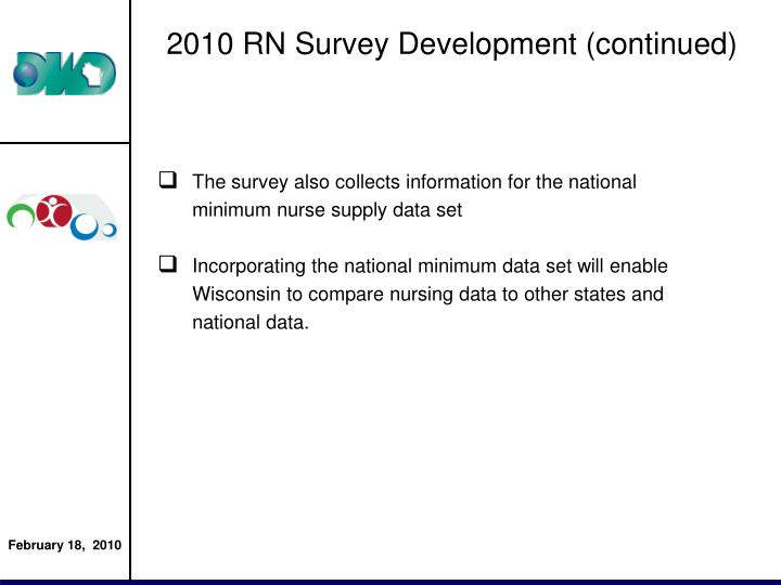 2010 RN Survey Development (continued)