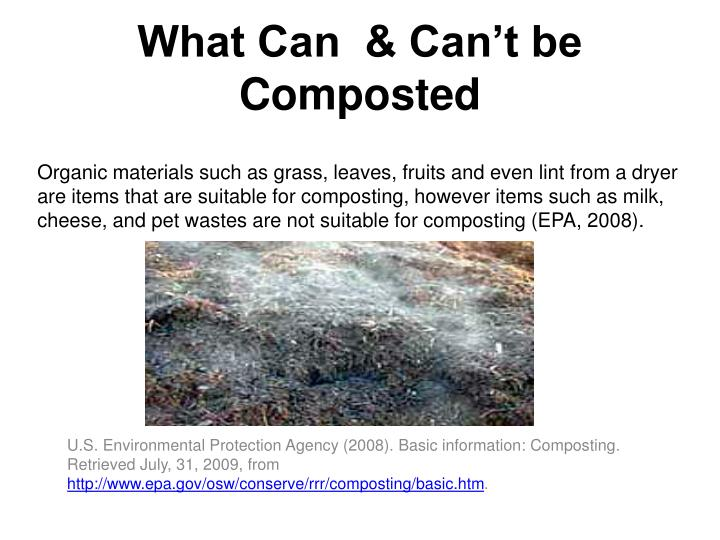 What Can  & Can't be Composted