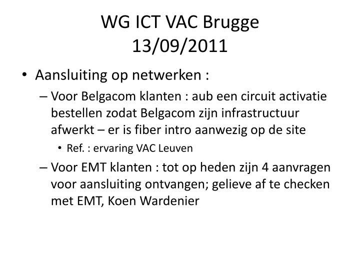 WG ICT VAC Brugge