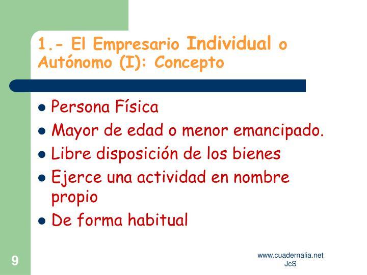 1.- El Empresario