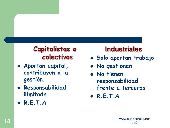 Capitalistas o  colectivos