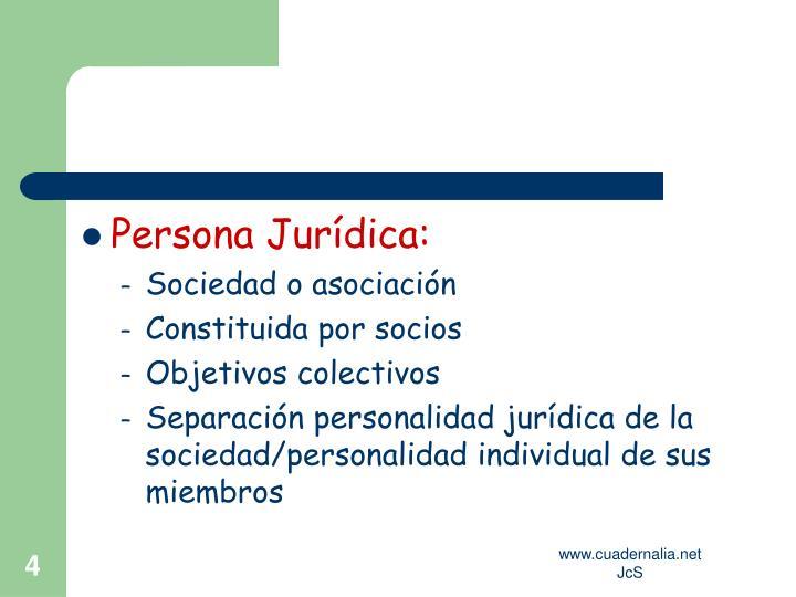 Persona Jurídica: