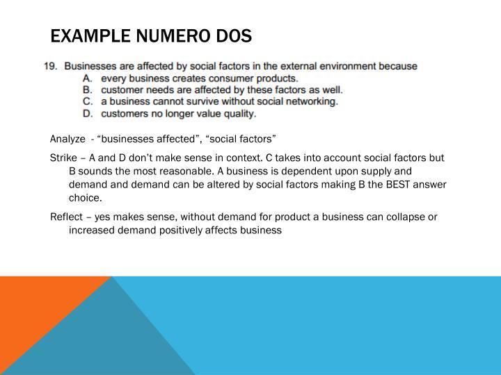 EXAMPLE NUMERO DOS