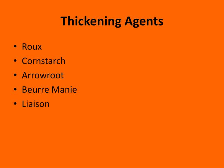 Thickening agents
