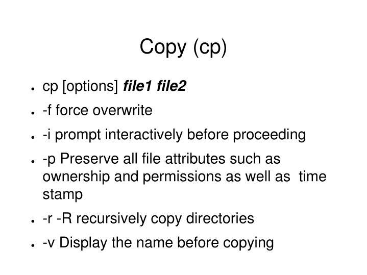 Copy (cp)