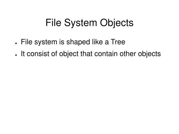 File System Objects