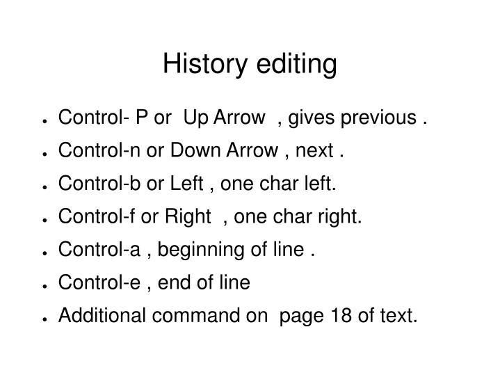 History editing