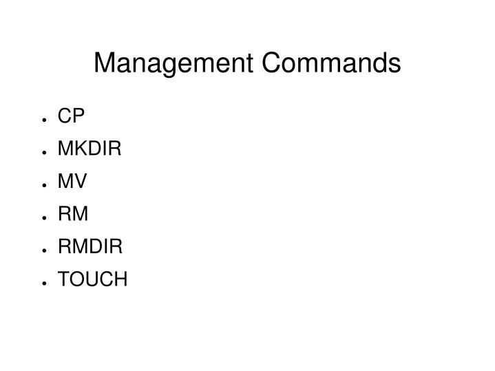 Management Commands