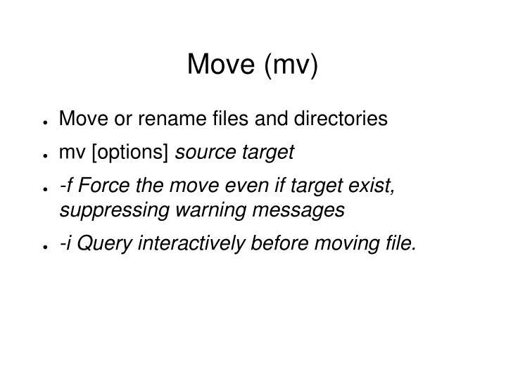 Move (mv)