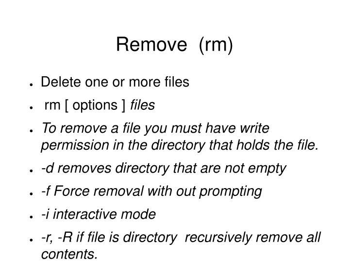 Remove  (rm)