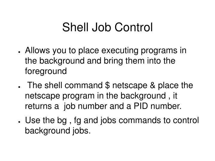 Shell Job Control