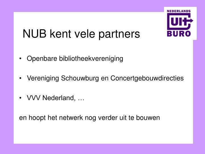 NUB kent vele partners