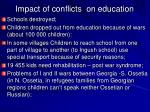 impact of conflicts on education