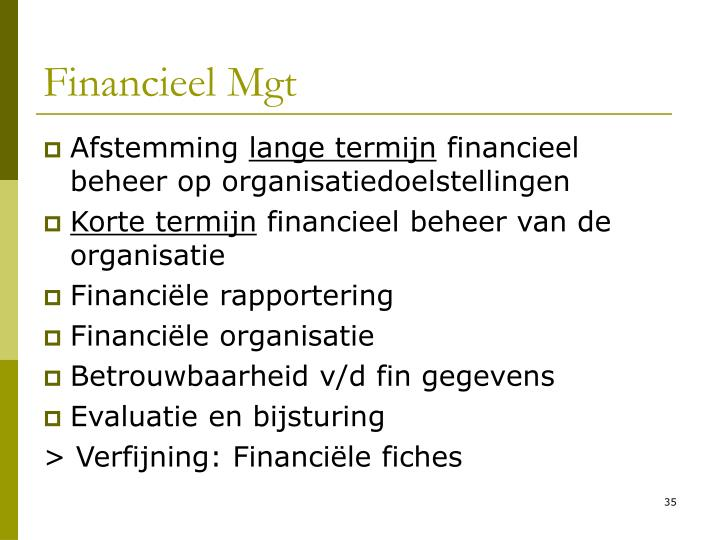 Financieel Mgt