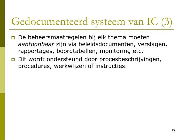 Gedocumenteerd systeem van IC (3)