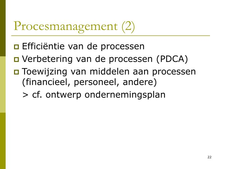 Procesmanagement (2)