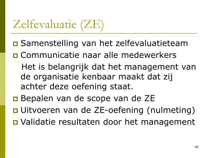 Zelfevaluatie (ZE)