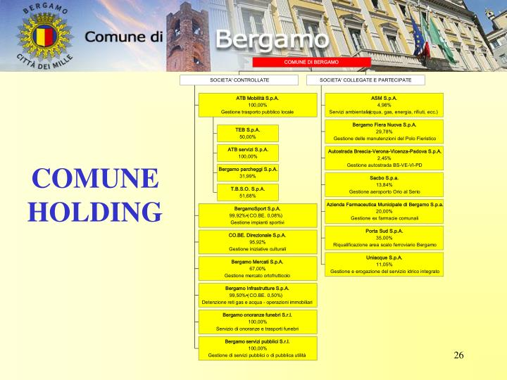 COMUNE HOLDING