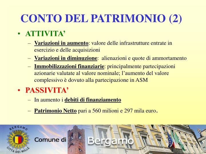 CONTO DEL PATRIMONIO (2)