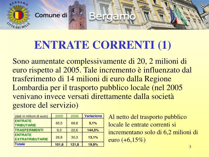 ENTRATE CORRENTI (1)