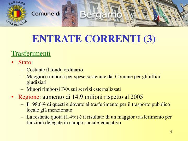 ENTRATE CORRENTI (3)