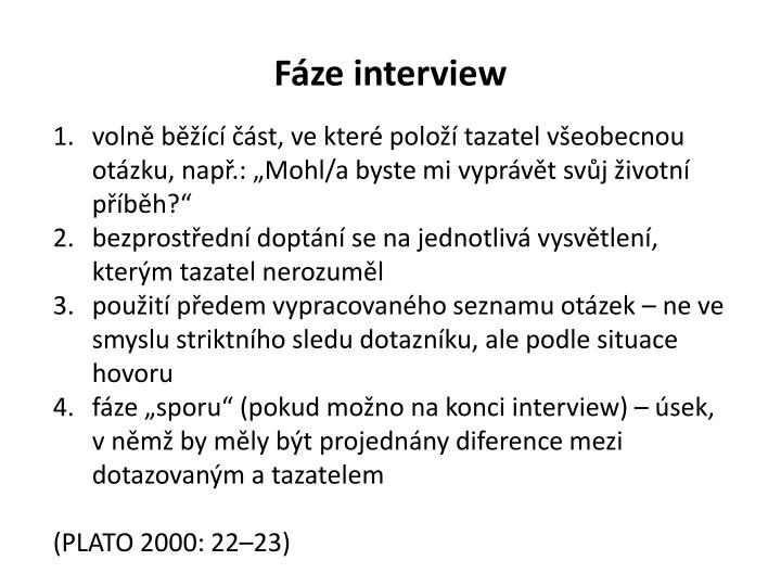 Fáze interview