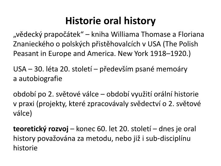 Historie oral history