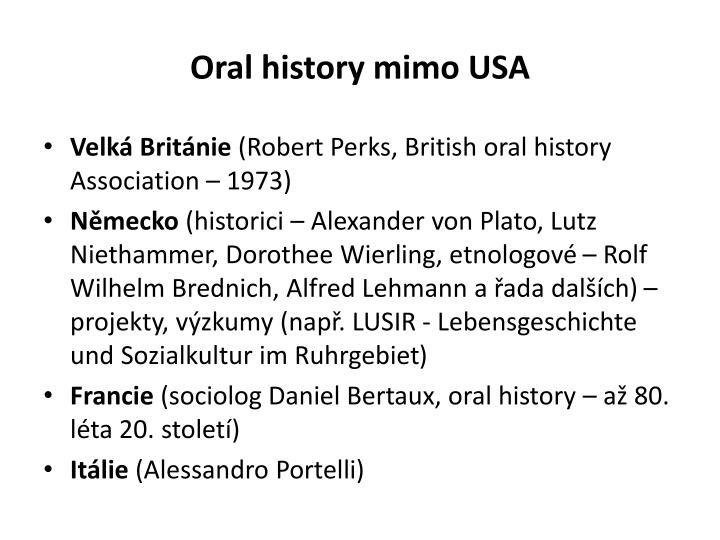 Oral history mimo USA