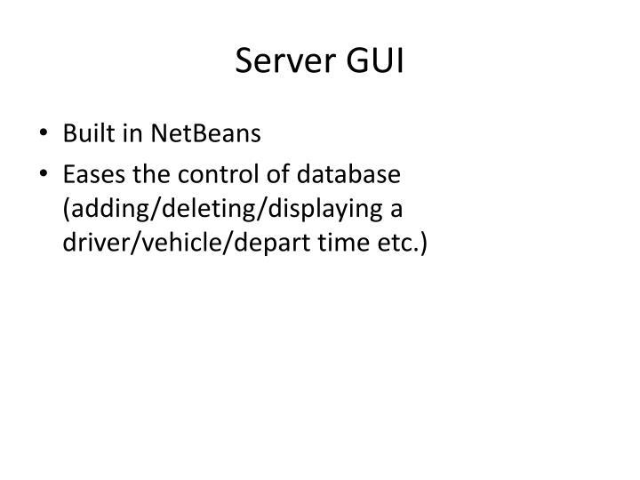 Server GUI