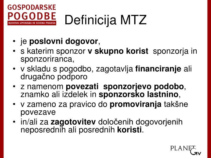 Definicija MTZ