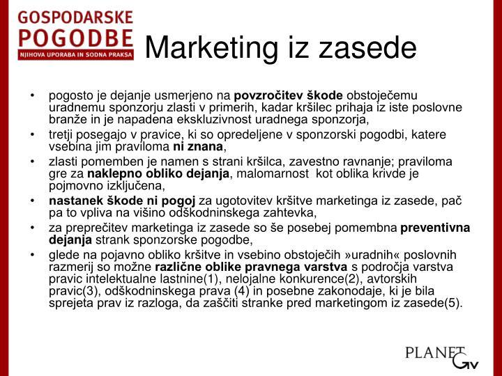 Marketing iz zasede
