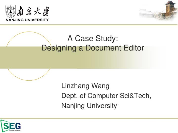 A case study designing a document editor