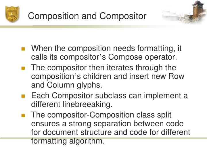 Composition and Compositor