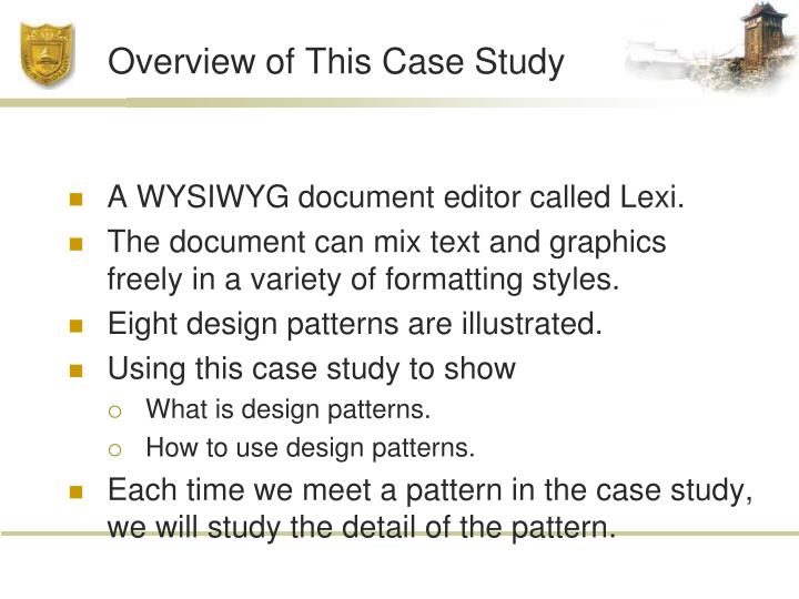 Overview of This Case Study