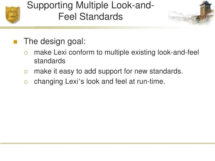 Supporting Multiple Look-and-Feel Standards