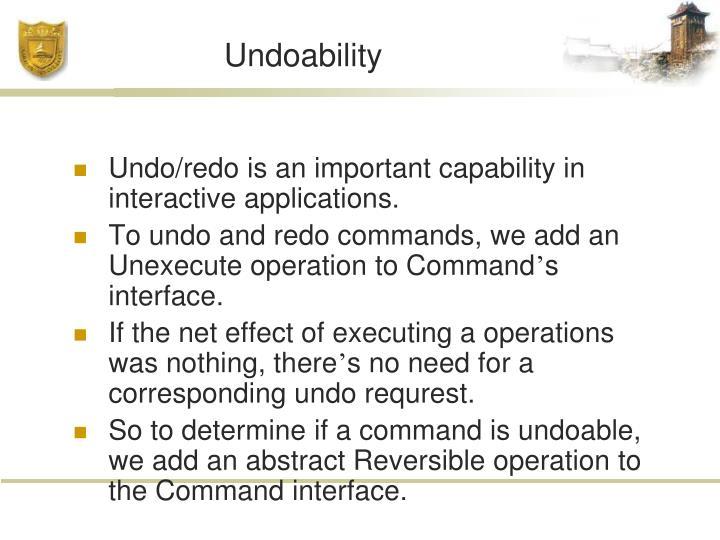 Undoability