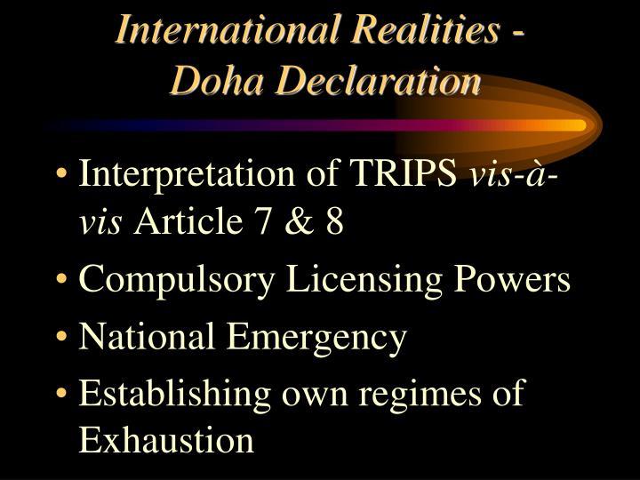 International Realities -