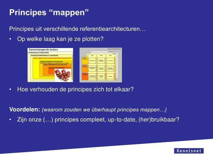 "Principes ""mappen"""