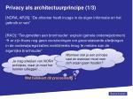 privacy als architectuurprincipe 1 3