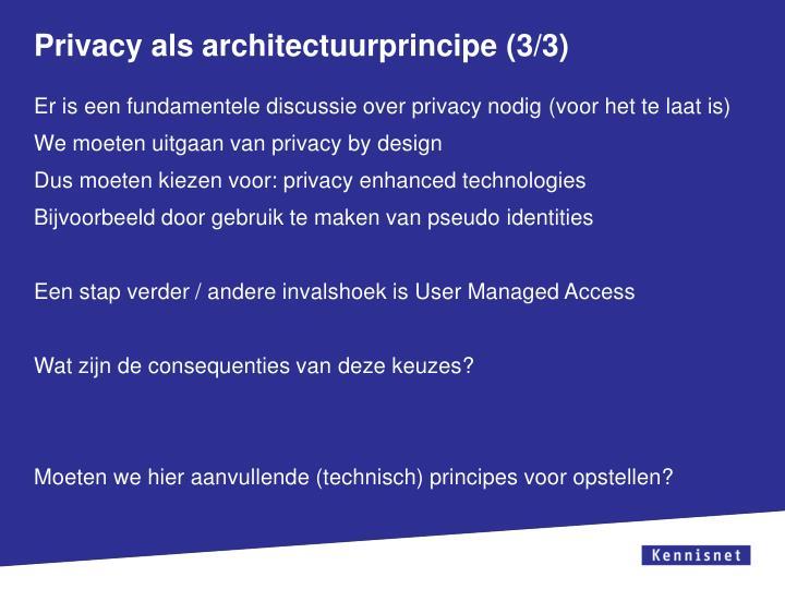 Privacy als