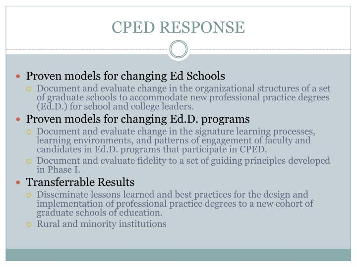Cped response