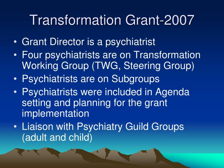 Transformation Grant-2007