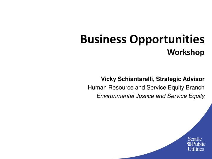 Business opportunities workshop