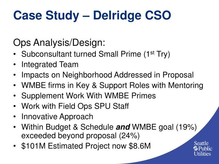 Case Study – Delridge CSO