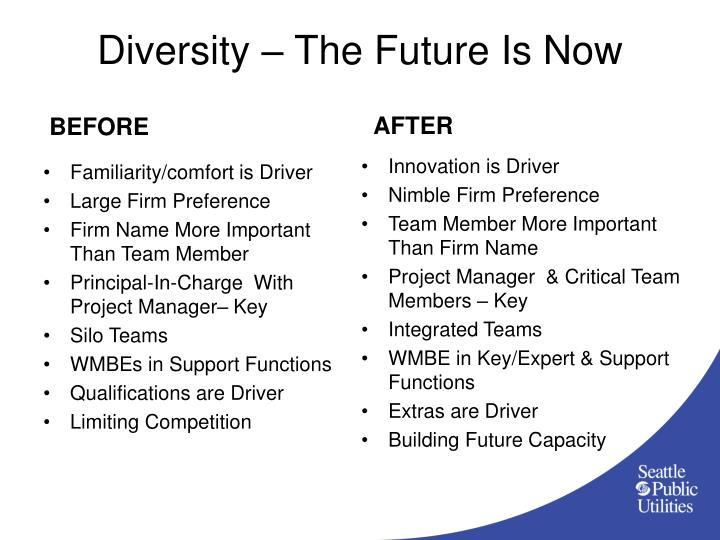 Diversity – The Future Is Now