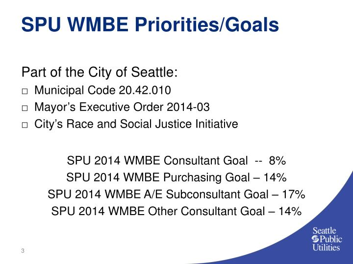 Spu wmbe priorities goals