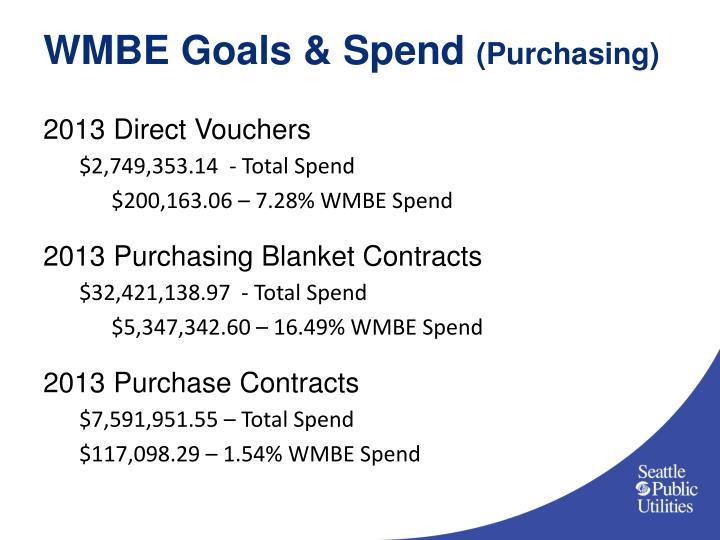 WMBE Goals & Spend