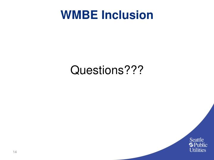 WMBE Inclusion