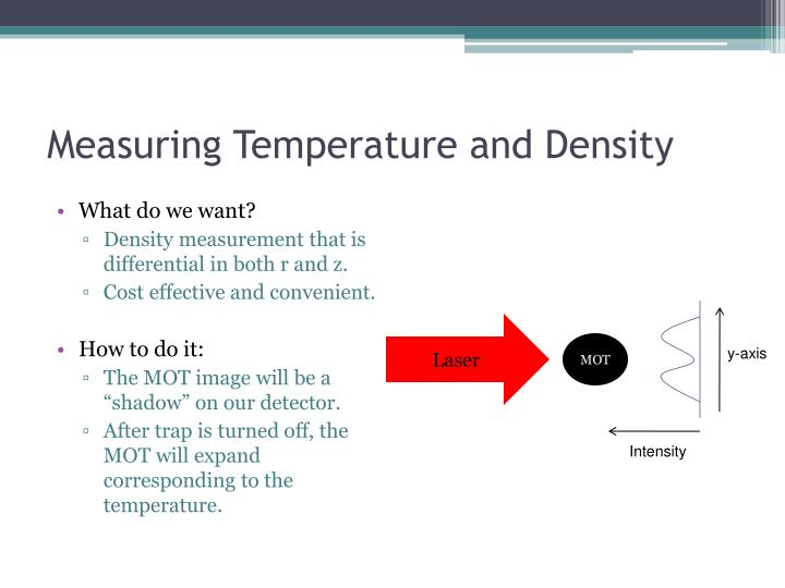Measuring Temperature and Density
